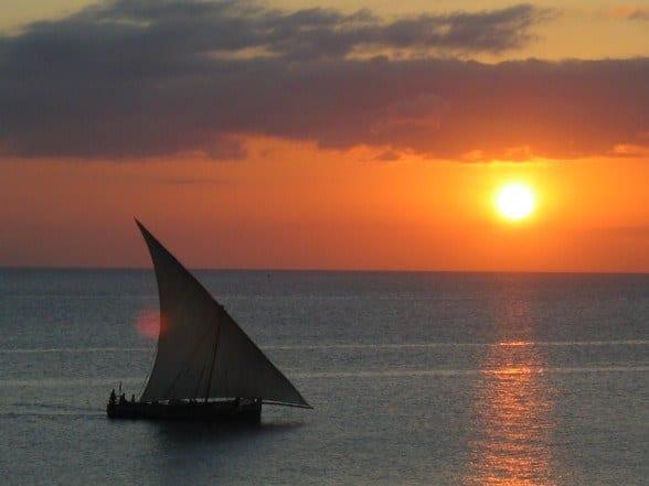 Sunset on Zanzibar Island