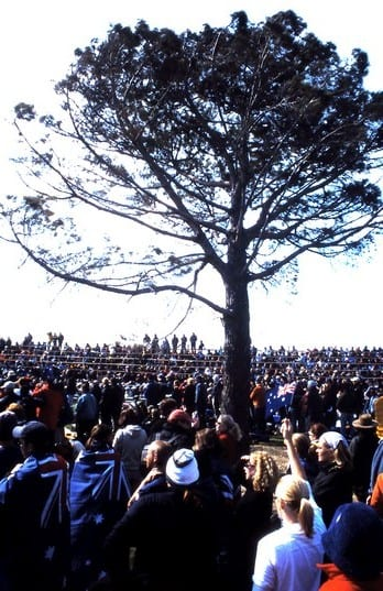 Lone Pine Aussie Ceremony on Anzac Day in Gallipoli