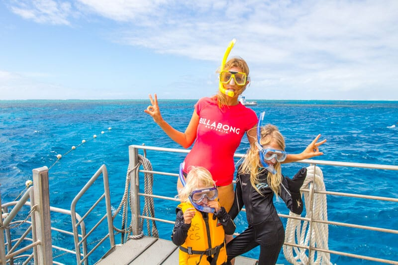 Snorkelling the Great Barrier Reef with kids
