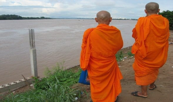 Daily Travel Photo, Monks, Mekong River, Thailand