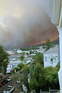 Table Mountain fire