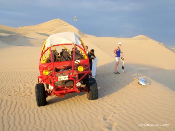 Sand boarding Huacachina Peru