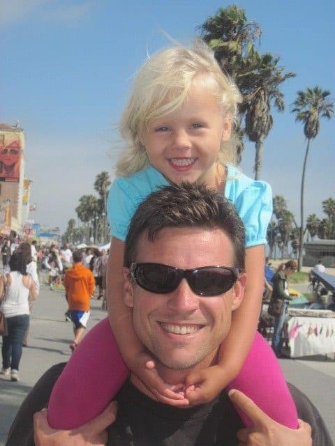 Exploring Venice Beach with children