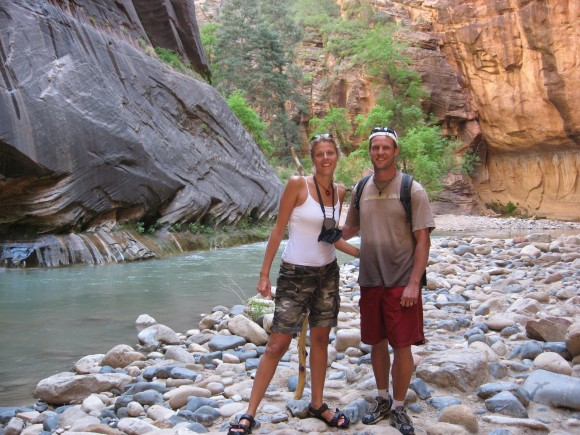 hiking the narrows Zion NP Utah