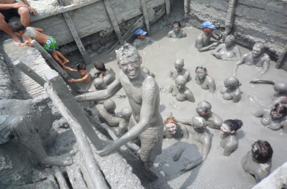 Mud volcano in Cartagena