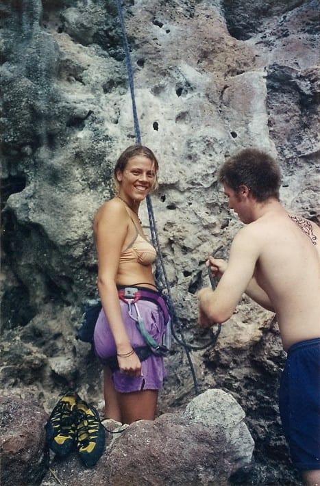 rock climbing reilay bay Thailand