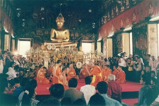 Wat Saket Buddhist ceremony