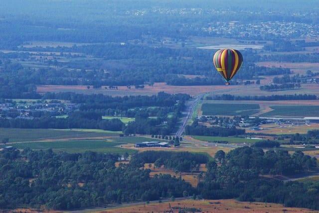 Hot air balloon rides Hunter valley