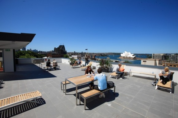 Sydney Harbour YHA Rooftop views