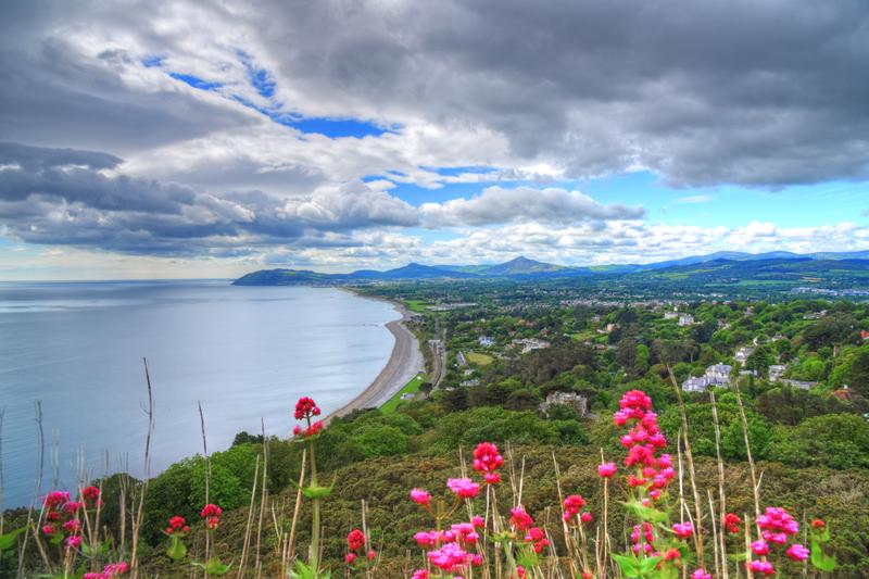 The view from Killiney Hill in Dublin, Ireland.