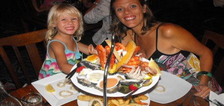 Seafood platter at Nelson Bay