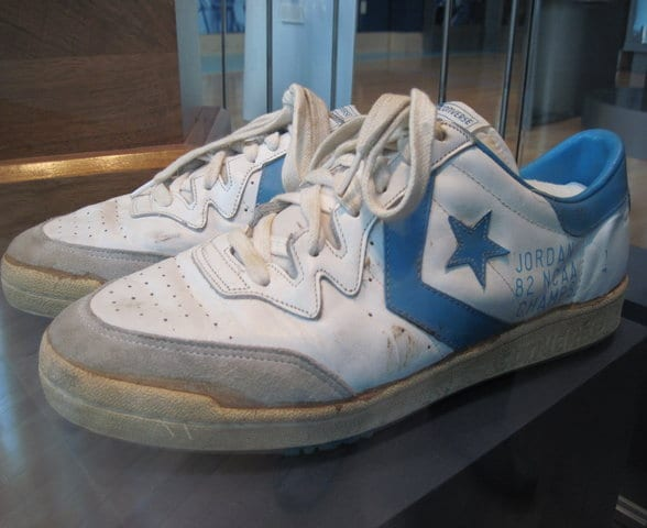 Michael Jordan's 1982 NCAA Championship shoes