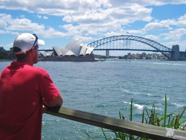 Botanical Gardens Sydney Harbour Bridge View
