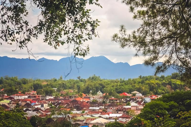 View of the Bukittinggi town in Sumatra, Indonesia