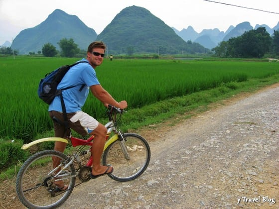 cycling through yangshuo china