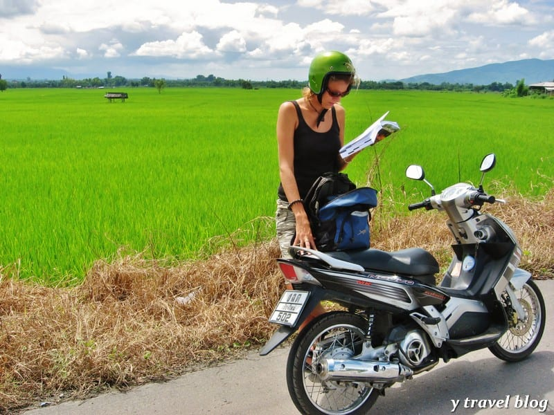 Biking in Chiang Mai, Thailand