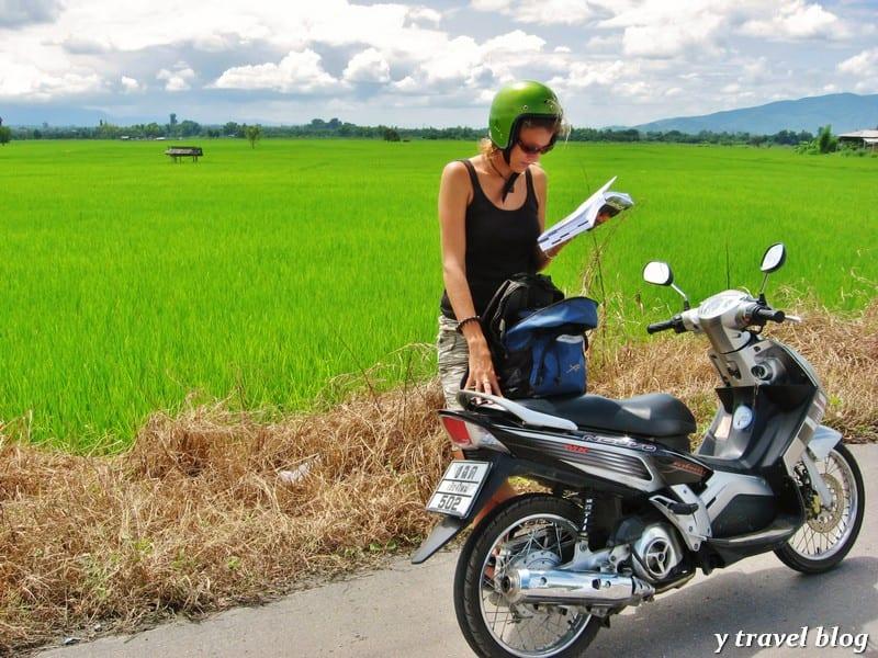 Biking in Chiang Mai, Thailand