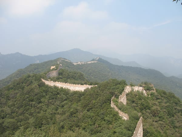 The great wall of china overgrowth