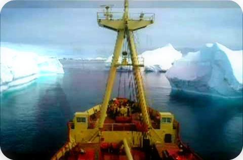 lick an iceberg Antarctica