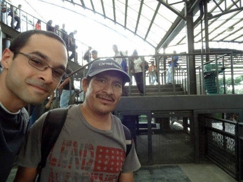 Me and the nicest guy in Guatemala in the TransMetro station