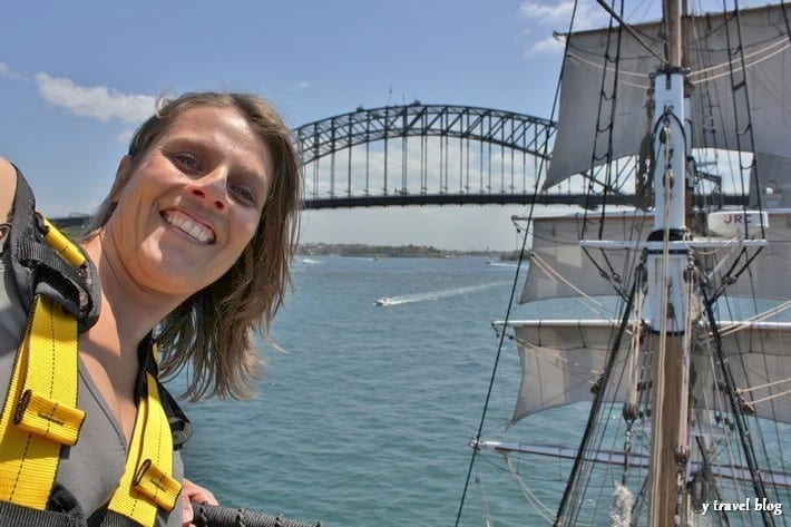 Sailing the tall ships Sydney Harbour