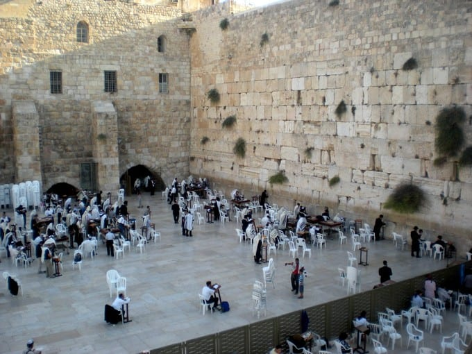 visiting the western wall Israel