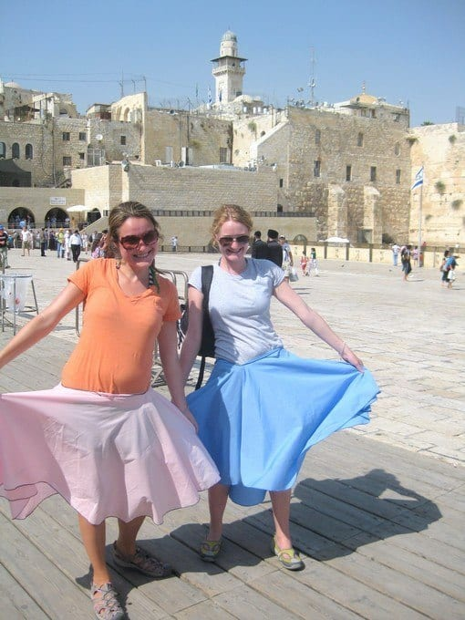 visiting the western wall