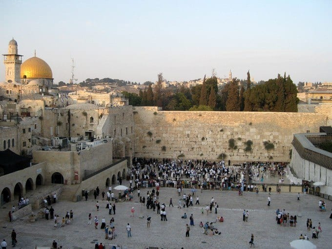 visiting the Western wall in israel