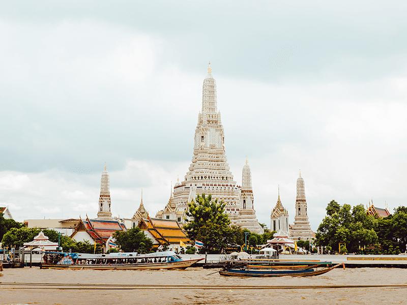 white thailand temple
