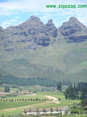 Mountains near Stellenbosch, South Africa