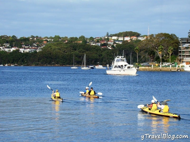 Kayaking on Middle Harbour, Sydney