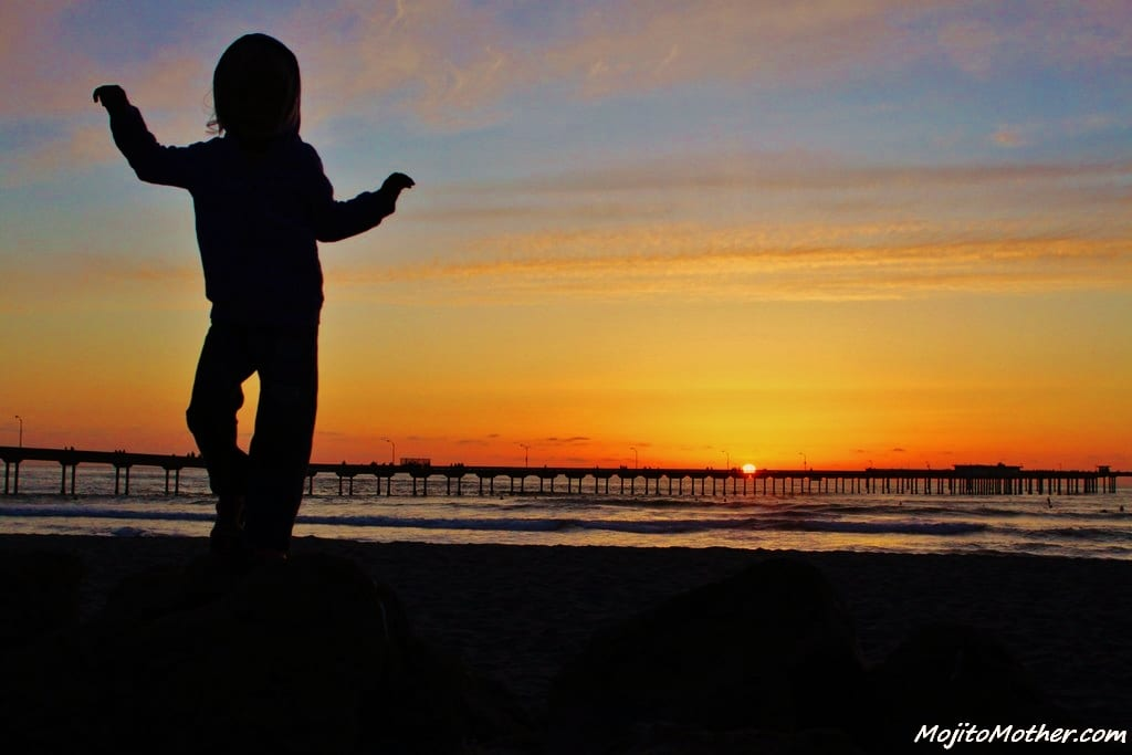 San Diego Sunset (Kalyra dancing)