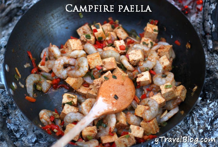 Campfire Paella | Savory Campfire Recipes For Delicious Meals Outdoors