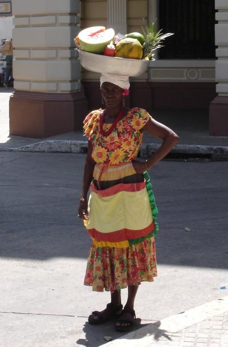 A fruit seller Latin America