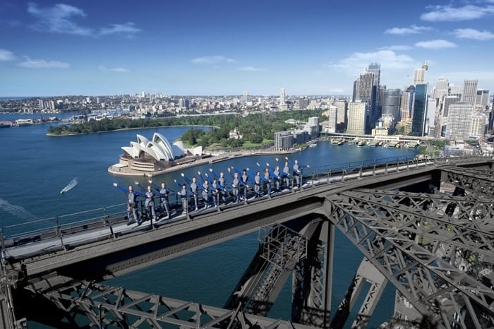 Ascension du pont du port de Sydney