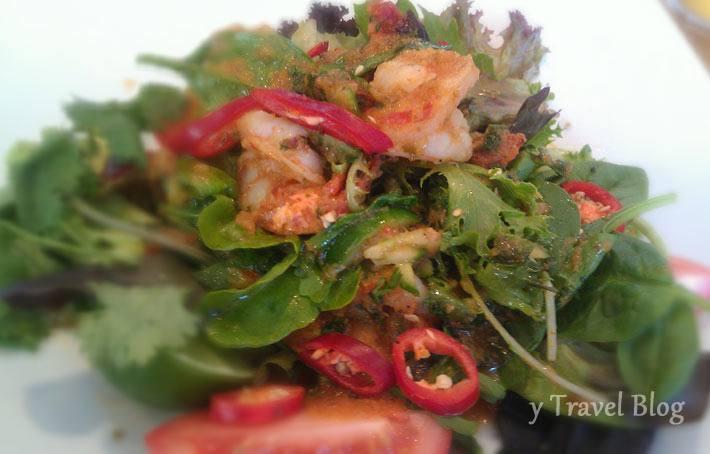 Thai prawn salad Speedos cafe