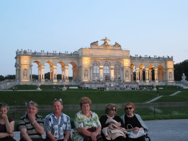 Good old Vienna. Schönbrunn castle by night