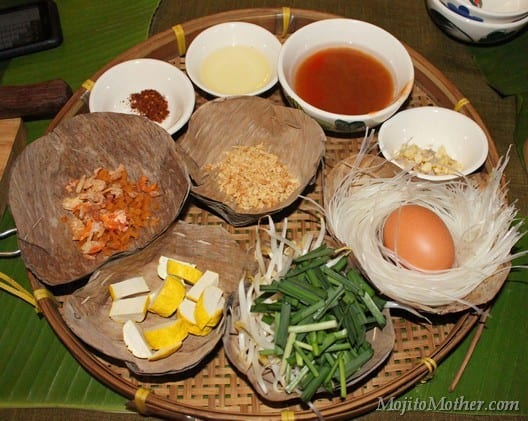 Phad Thai ingredients