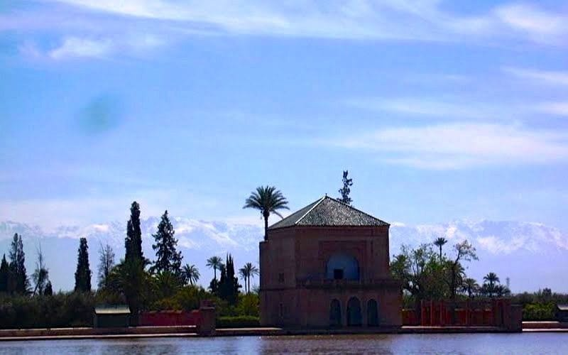 Atlas Mountains – The Marrakech Backdrop (at Menara Gardens)