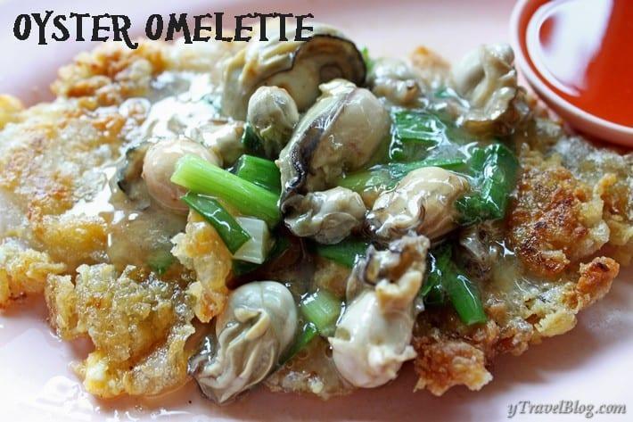 oyster omelette Chinatown Bangkok
