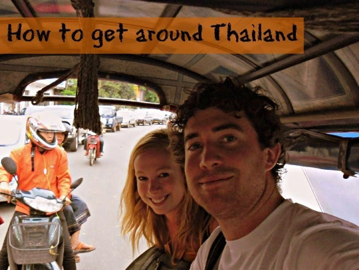 getting around Thailand tuk tuks