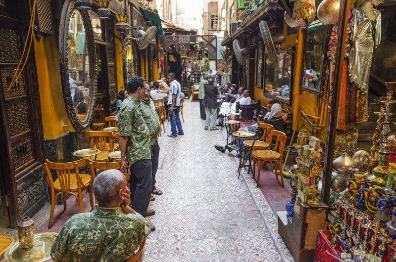 souk market in cairo egypt