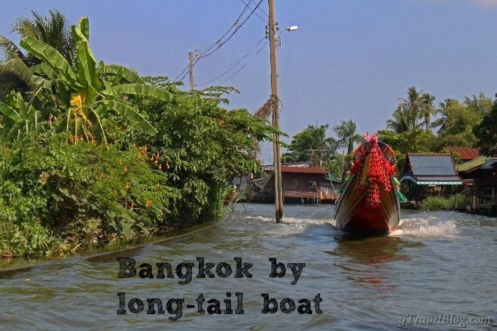 Bangkok by long tail boat