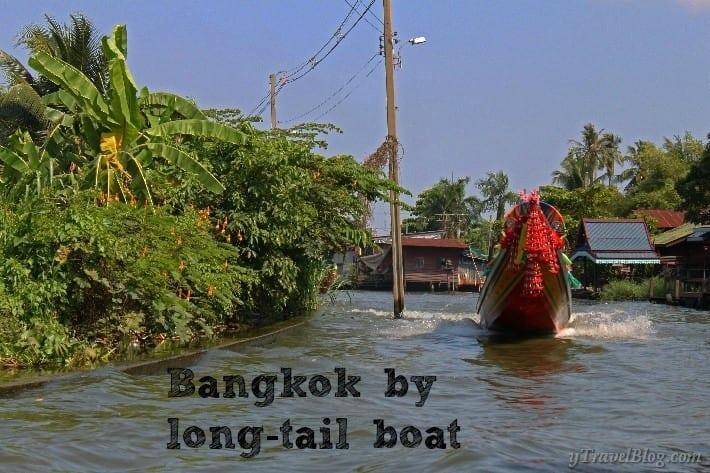 Bangkok by long tail boat