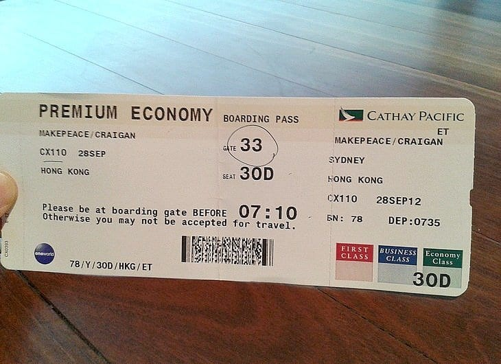 The Cathay Pacific Premium Economy Experience