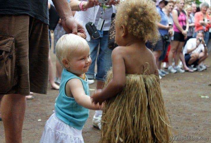two children meet
