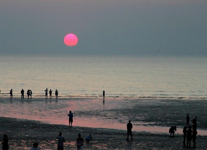 Sunset over Mindel Beach, Darwin, Australia