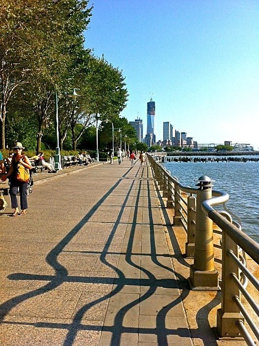 Take a stroll along the Hudson River in New York City