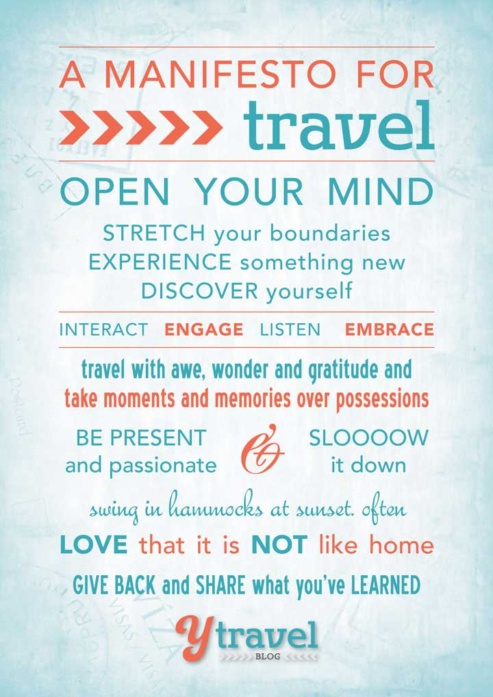 A travel manifesto