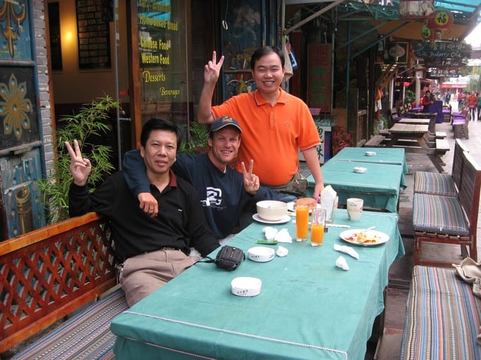 Craig with the locals in Dali, China